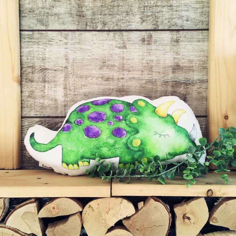 Подушка динозавр