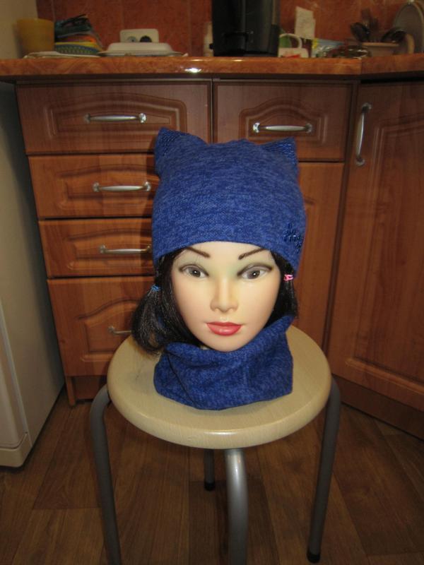 Комплект шапка и снуд на 4-5 лет