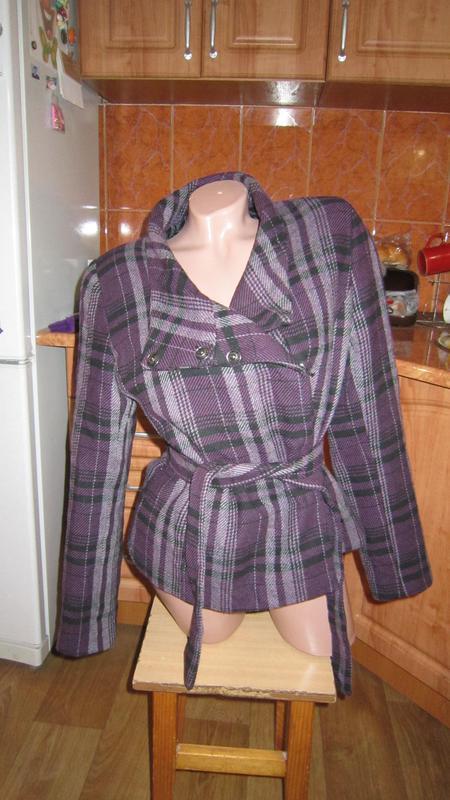 Пальто шерстянное h&m, размер 46