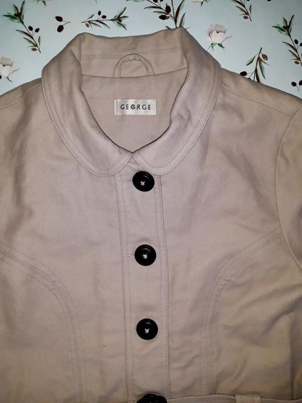 🎁1+1=3 базовое женское бежевое пальто под кашемировое george, ... - Фото 4