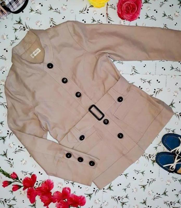 🎁1+1=3 базовое женское бежевое пальто под кашемировое george, ... - Фото 6