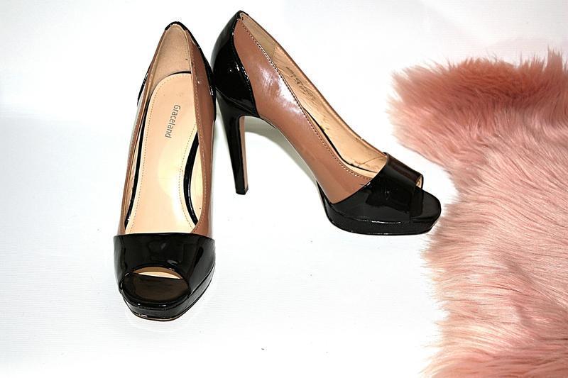 Босоножки новые сток квадратный носок шпильки высокий каблук g... - Фото 4