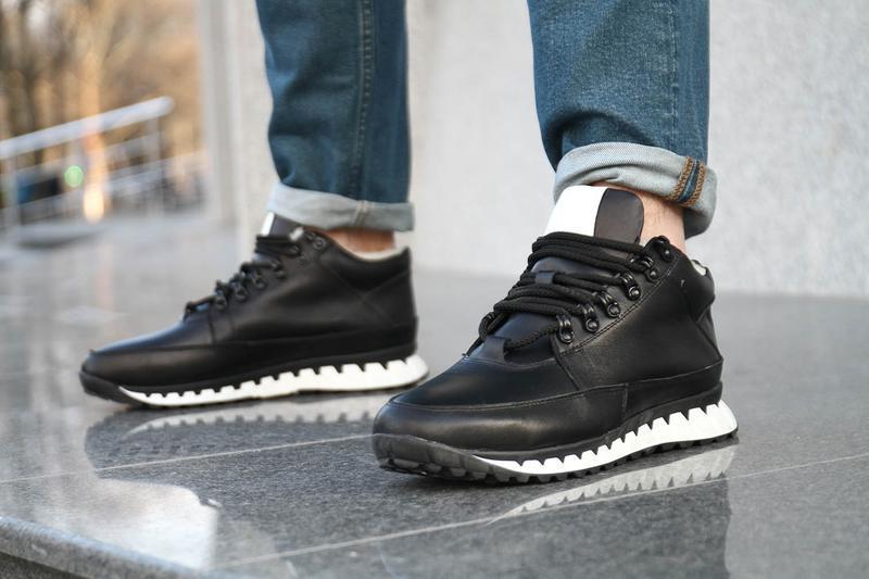 Кожаные зимние мужские ботинки - Фото 10
