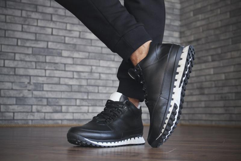 Кожаные зимние мужские ботинки - Фото 2