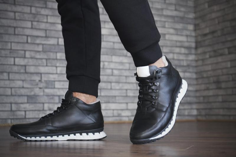 Кожаные зимние мужские ботинки - Фото 3
