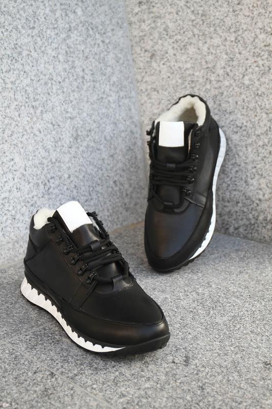 Кожаные зимние мужские ботинки - Фото 5