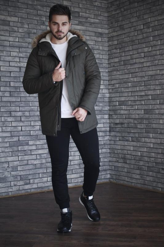 Кожаные зимние мужские ботинки - Фото 4