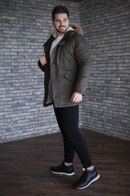 Кожаные зимние мужские ботинки - Фото 9