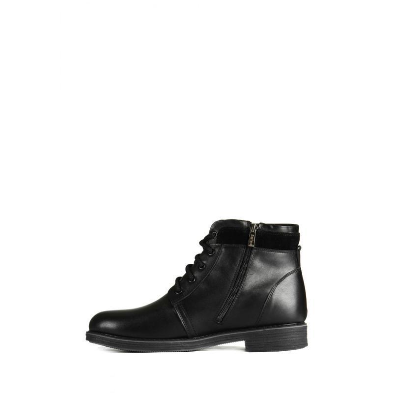 Классические кожаные мужские ботинки на зиму - Фото 3