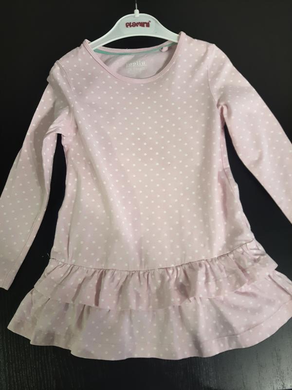 Розовое платье lupilu
