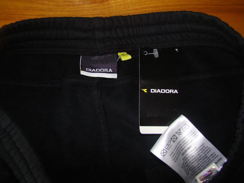 Спортивные брюки diadora pant fleece cuffed 160108-80013 - Фото 4