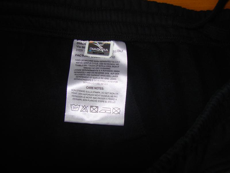 Спортивные брюки diadora pant fleece cuffed 160108-80013 - Фото 5