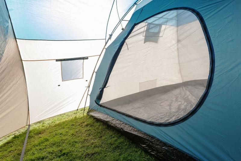 Палатка туристическая пятиместная Bestway 68015 Hogan (200+305) х - Фото 6