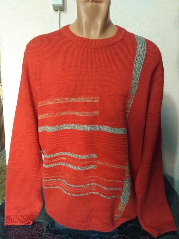 Комплект: свитер + шарф 80% шерсть - Фото 2