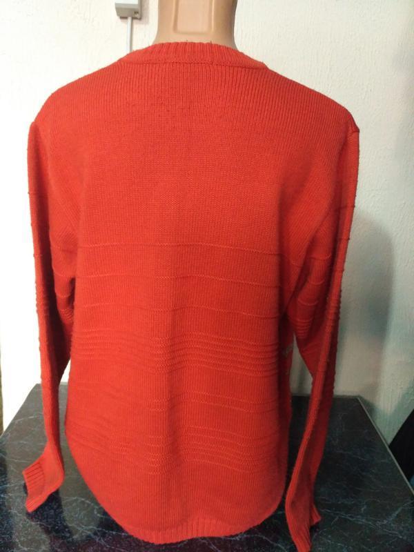 Комплект: свитер + шарф 80% шерсть - Фото 3