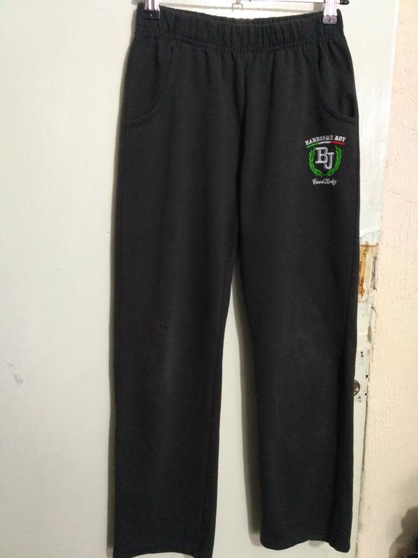 Трикотажные спортивные штаны на рост 140 см