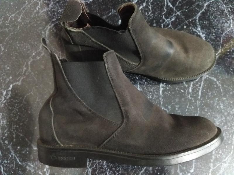 Демисезонные ботинки челси из бычьей кожи 35 размер