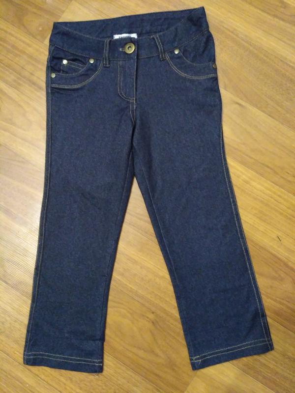 Тонкие стрейчевые джинсы на рост 128-134 см