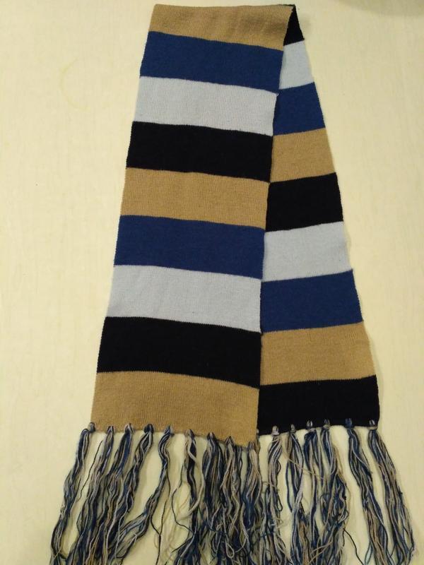 Тонкий полосатый шарф