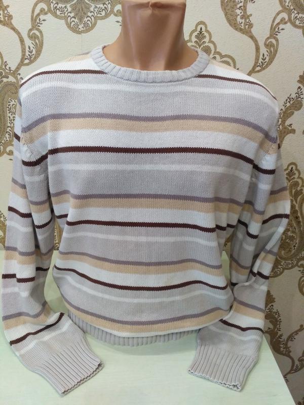 Серый свитер fishbone, 100% коттон, размер l