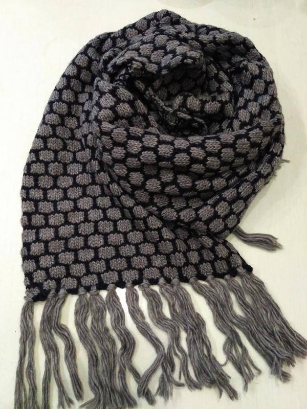 Большой тёплый шарф 40% шерсть