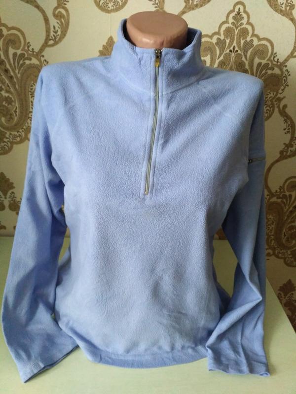 Флисовый свитер, кофта, реглан на короткой молнии