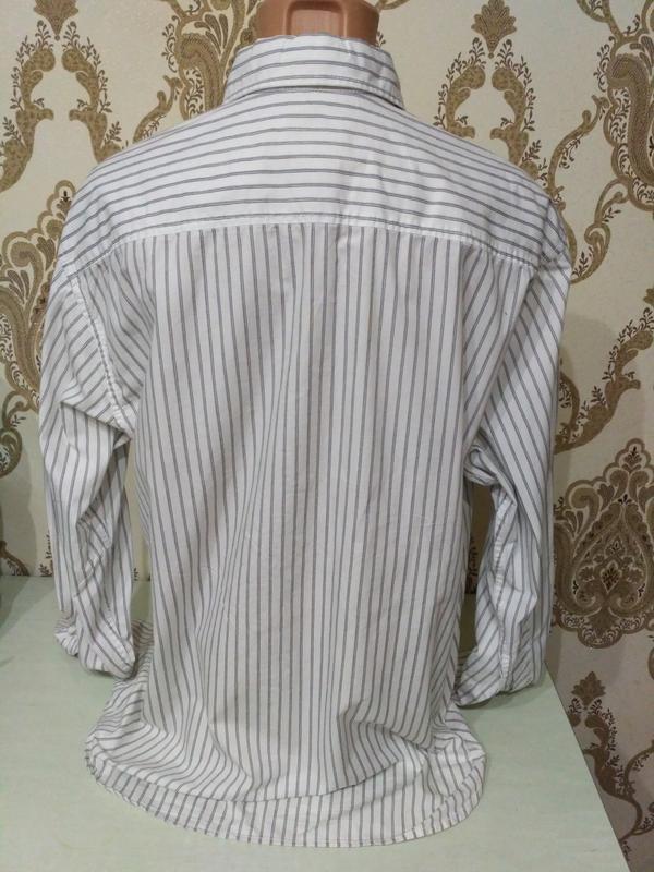 Белая полосатая рубашка tom tailor размер xxl - Фото 3