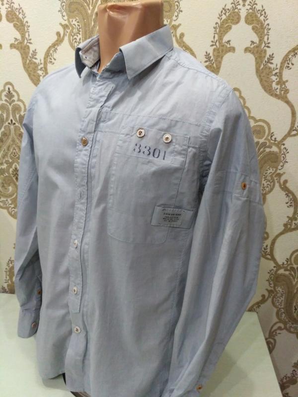Рубашка g-star raw denim на молнии размер м