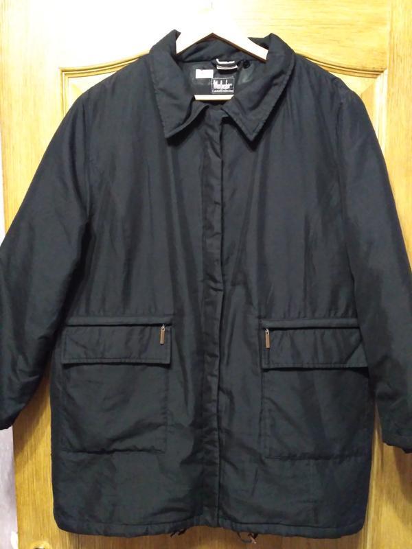 Чёрная демисезонная куртка