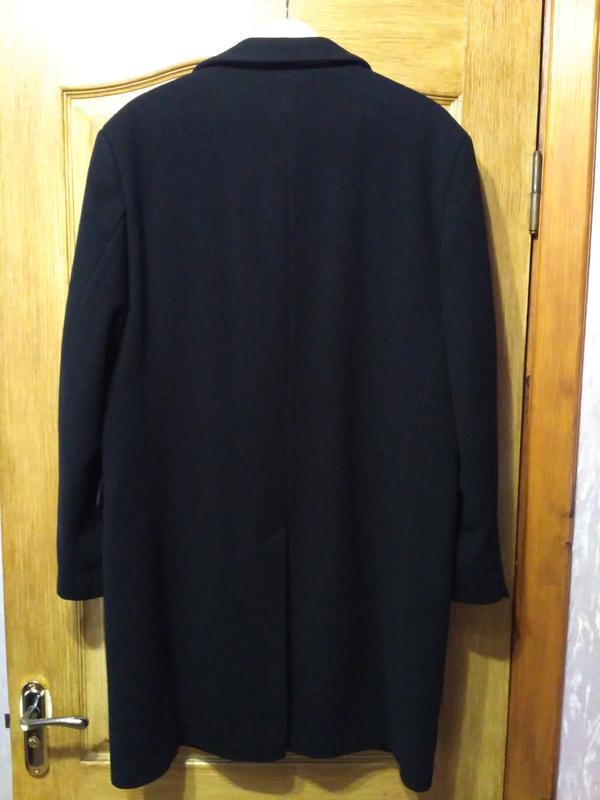 Barisal. шерсть и кашемир! мужское чёрное демисезонное пальто - Фото 2