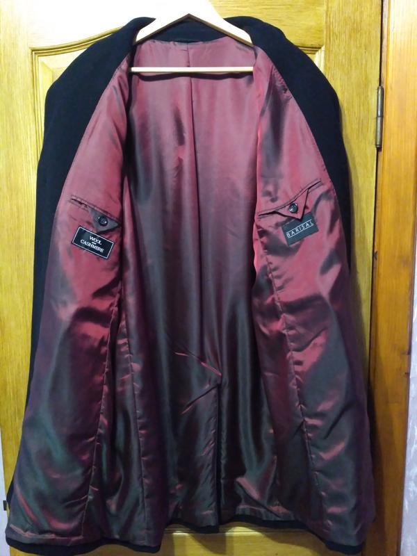 Barisal. шерсть и кашемир! мужское чёрное демисезонное пальто - Фото 3