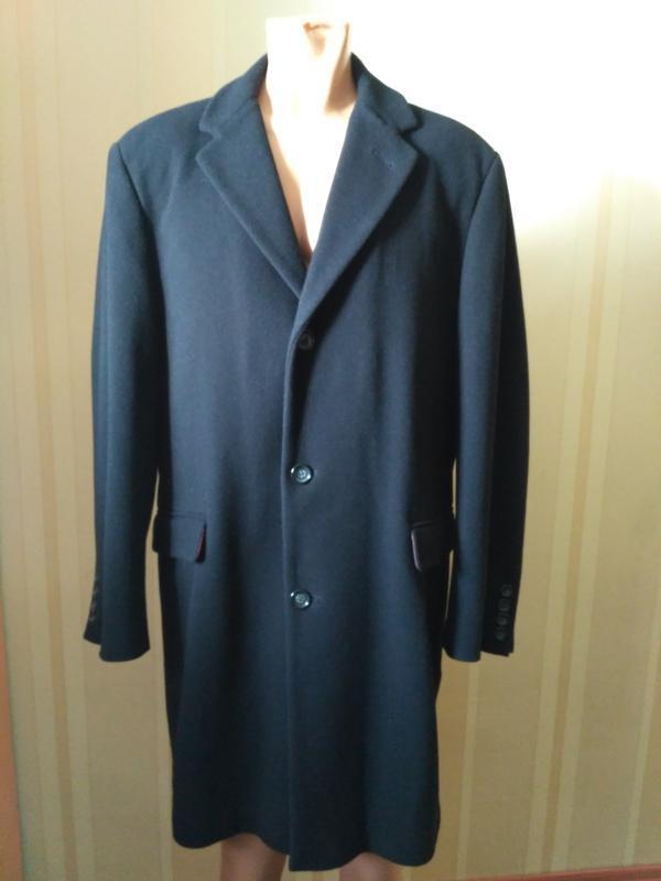 Barisal. шерсть и кашемир! мужское чёрное демисезонное пальто - Фото 4