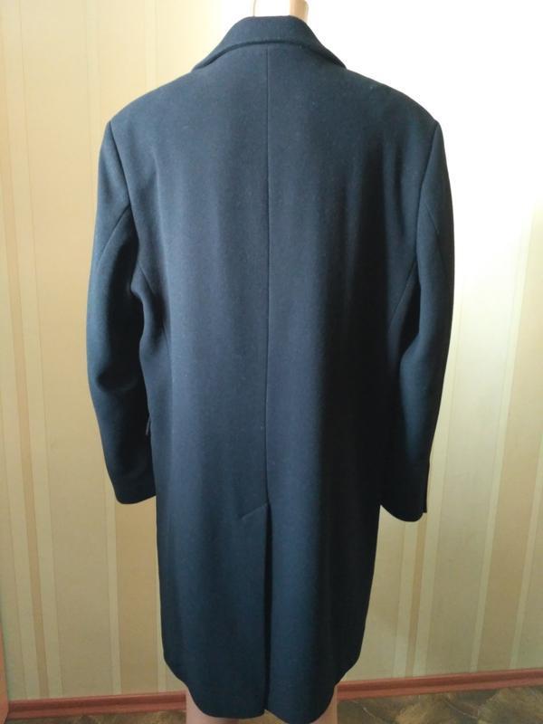 Barisal. шерсть и кашемир! мужское чёрное демисезонное пальто - Фото 5