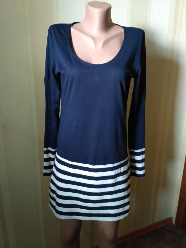 Mango летнее трикотажное платье с длинным рукавом