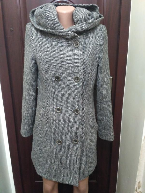 Vila clothes. демисезонное пальто с капюшоном