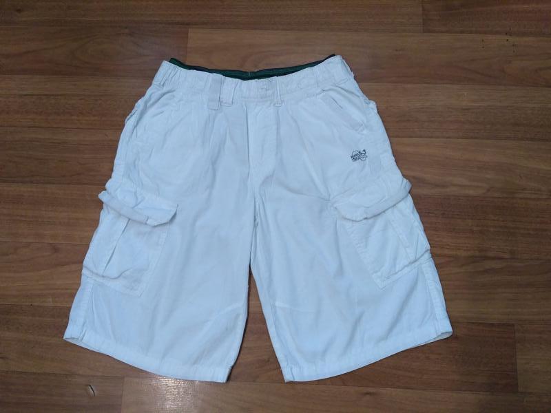 Белые шорты с накладными карманами, 100% коттон
