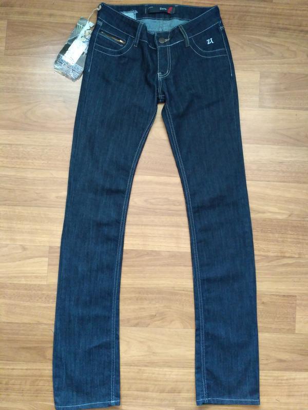 Новые тёмно-синие джинсы zara 26 размер