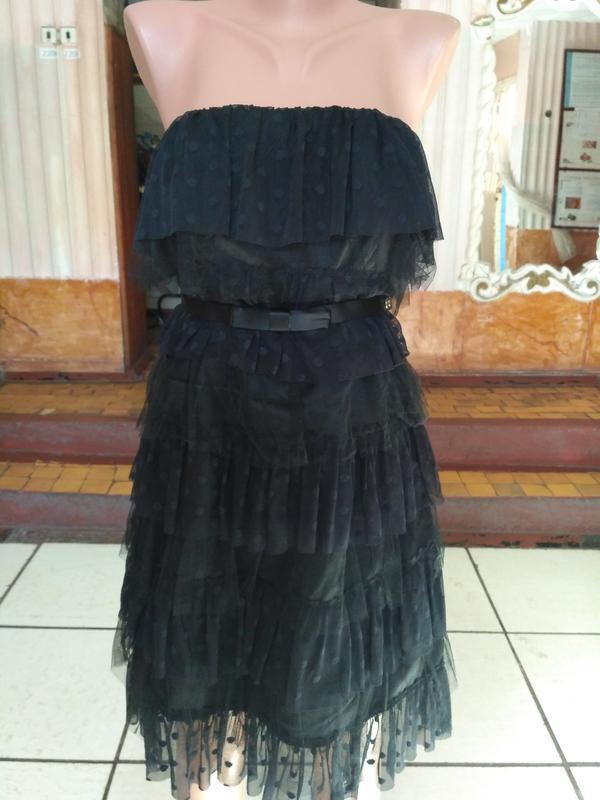Платье бюстье, коктельное платье kate yong размер xxs