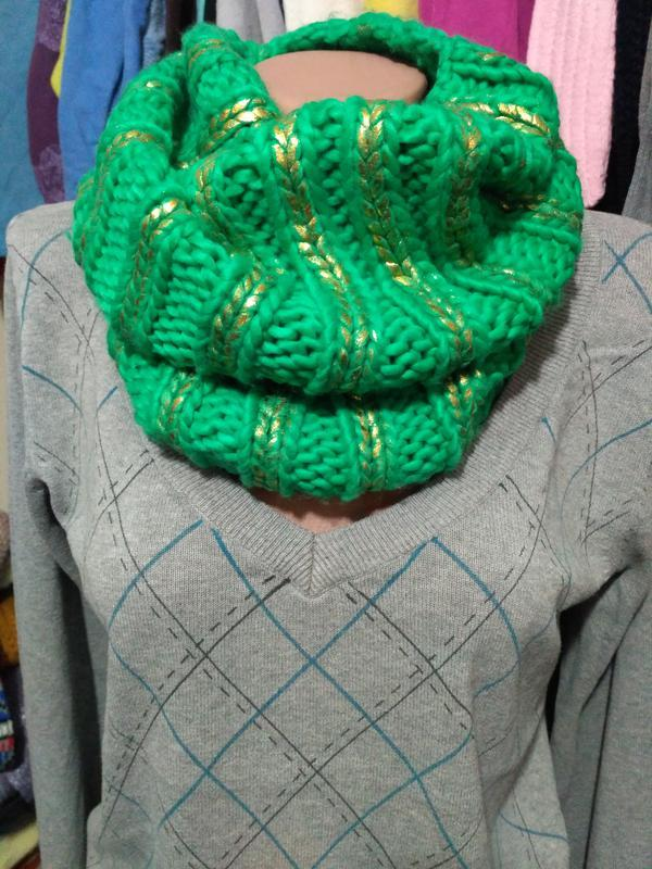 Зелёный хомут, шарф