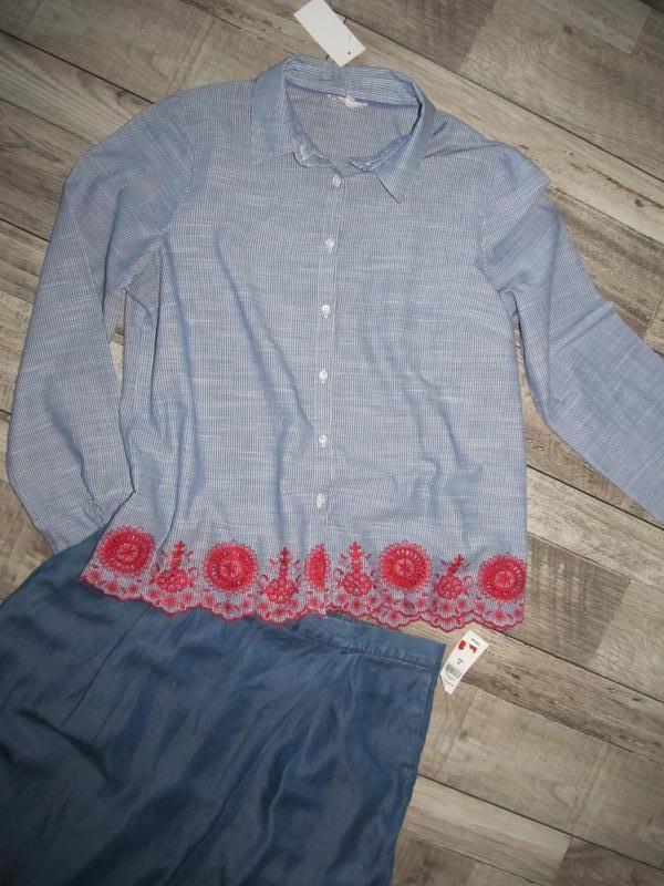 Рубашка  с вышивкой от falmer heritage р.14