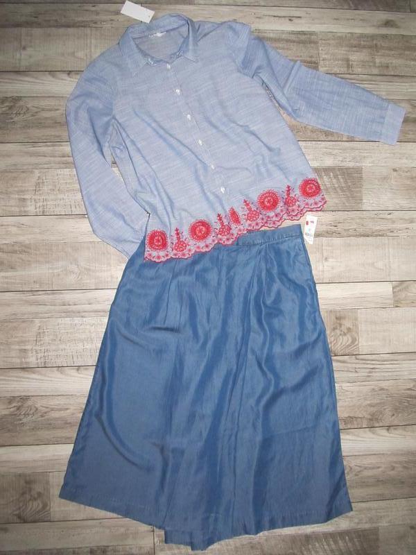 Рубашка  с вышивкой от falmer heritage р.14 - Фото 2