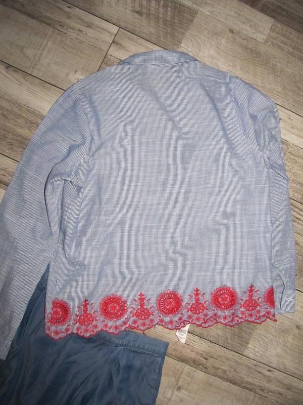 Рубашка  с вышивкой от falmer heritage р.14 - Фото 3