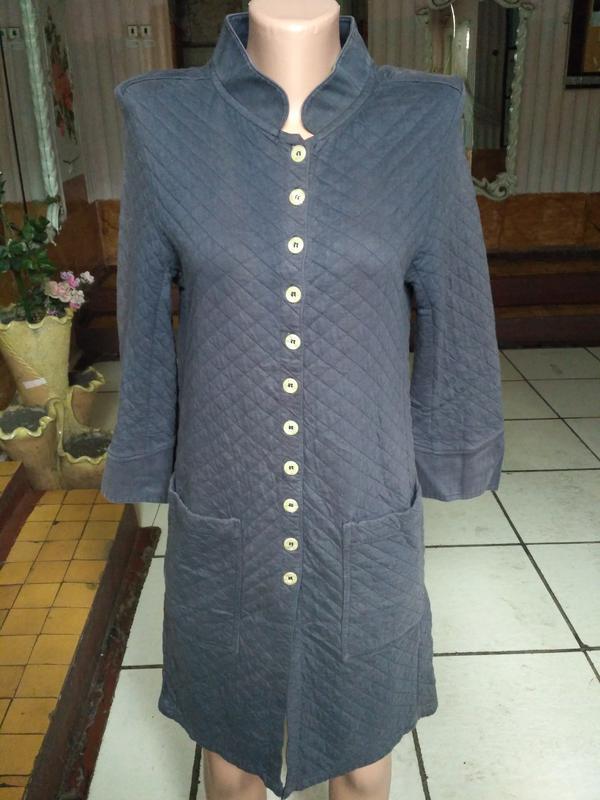 Стёганое платье - рубашка, халат франция!