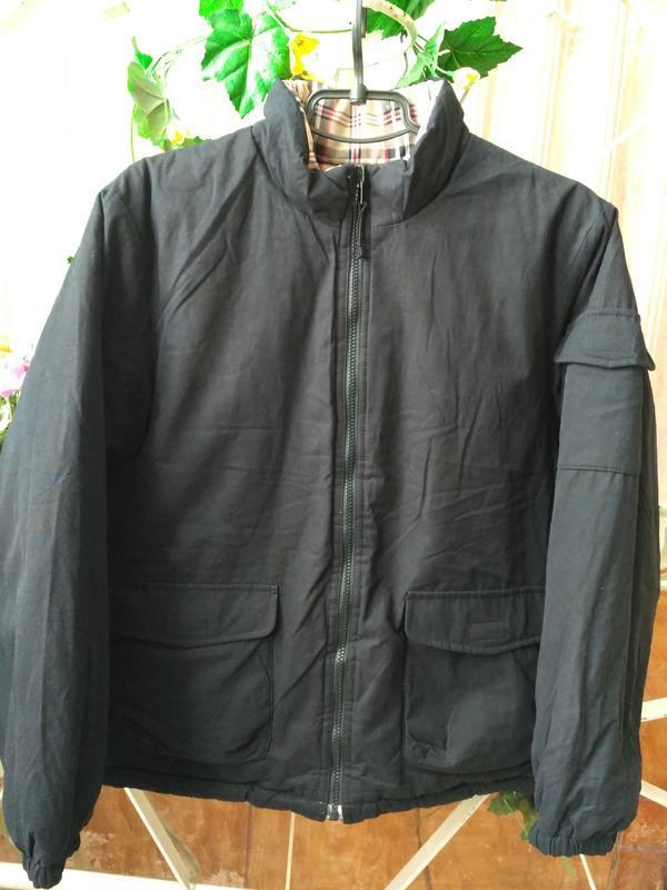 Uniqlo! Двусторонняя демисезонная куртка на рост 150 см