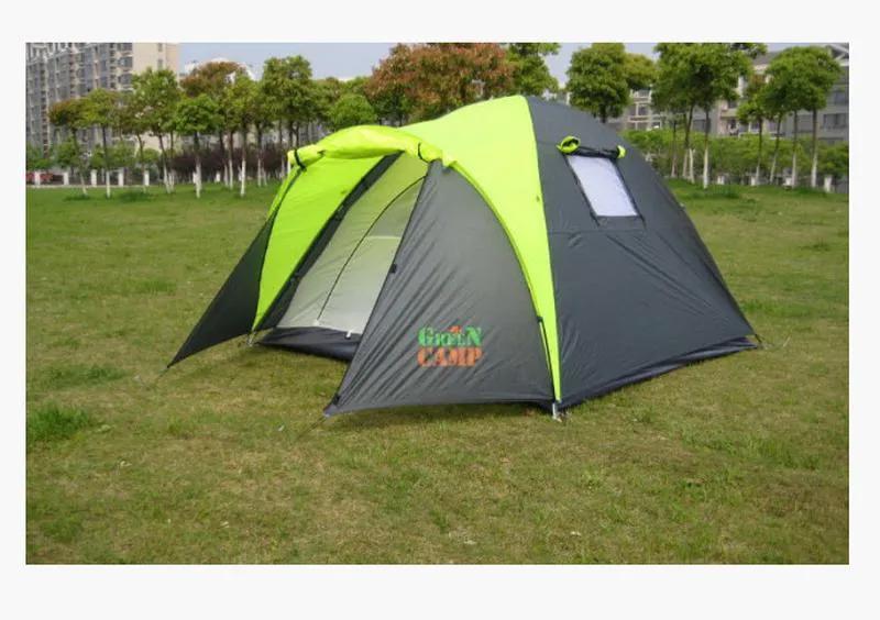 Палатка 3-х местная Green Camp 1011-2, на 2 входа.