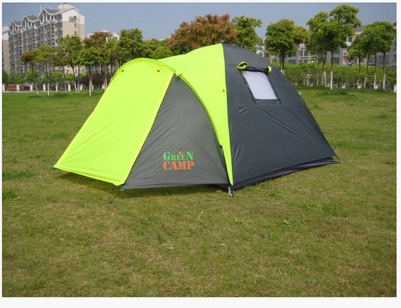 Палатка 3-х местная Green Camp 1011-2, на 2 входа. - Фото 2