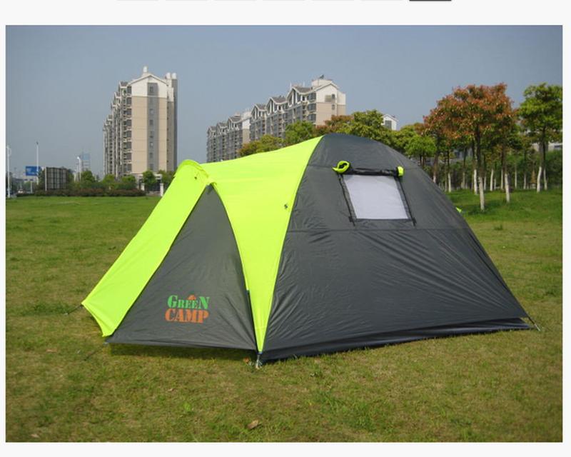 Палатка 3-х местная Green Camp 1011-2, на 2 входа. - Фото 3