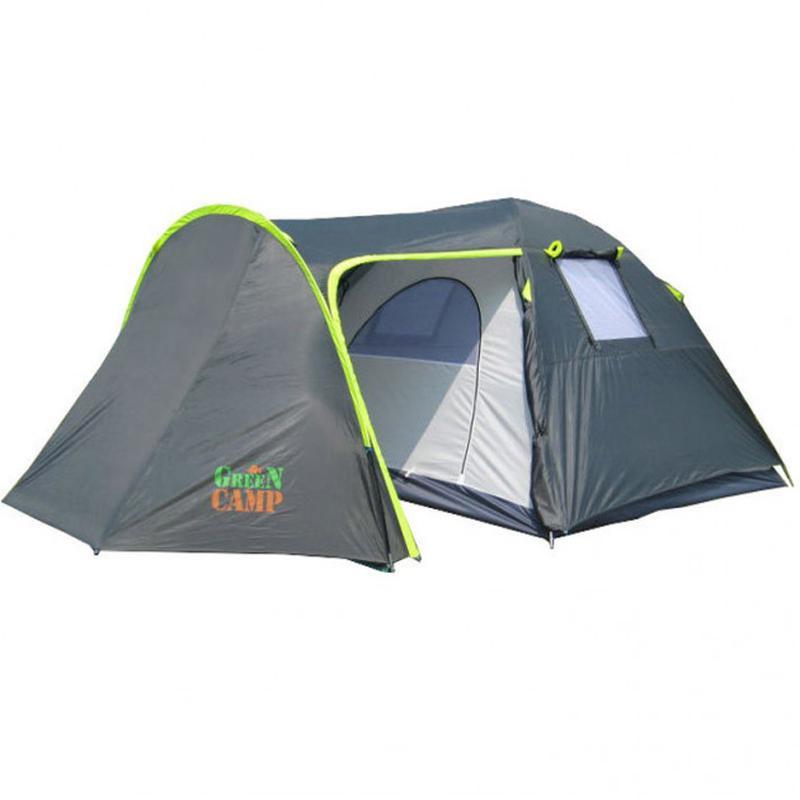 Палатка 4-х местная Green Camp 1009+дополнительный пол в тамбур. - Фото 6