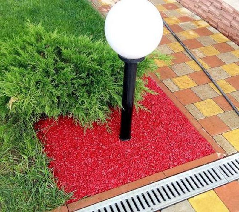 Декоративная цветная крошка , гравий щебень камень для клумб ,... - Фото 2