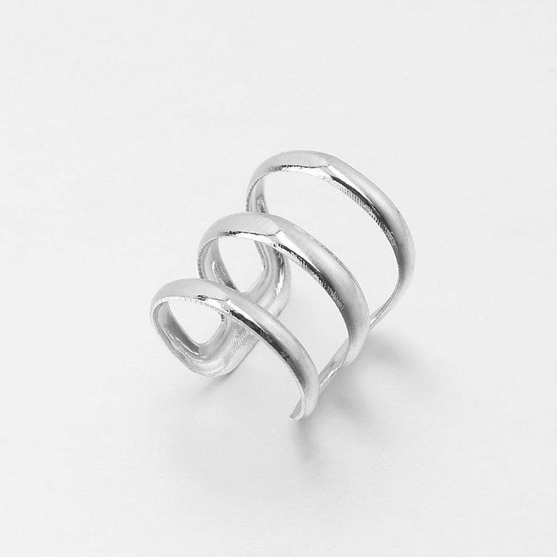 Кафф - обманка серебристый манжет - Фото 2